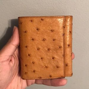 Prada Genuine Ostrich Leather Compact Wallet. ❤️